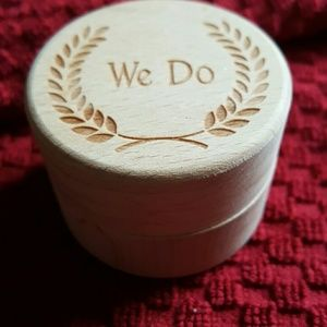Wood engraved wedding ring box
